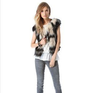 Twelfth Street Cynthia Vincent faux fur vest EUC